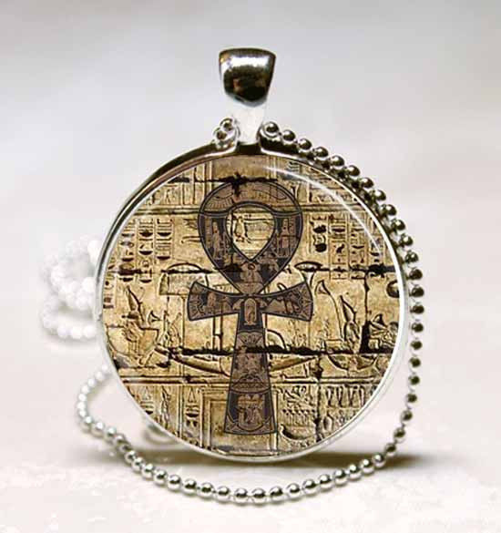 ankh brown pendant