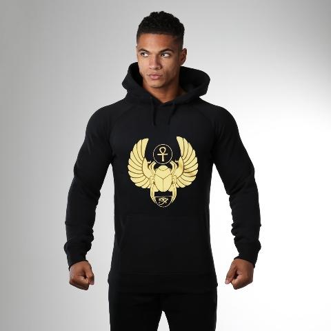 khepra black & gold hoodie model xtra signs x 640