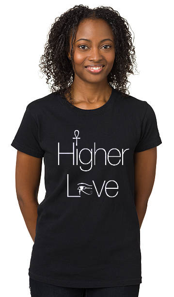 Higher Love Black Womens T-Shirt II