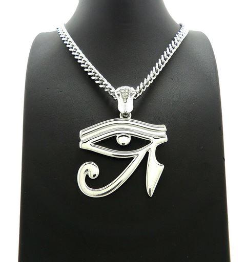 3rd eye silver thick chain & 640